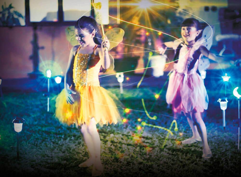 iGUiLux Fantasia iluminação jardim lazer magia beleza decoração led