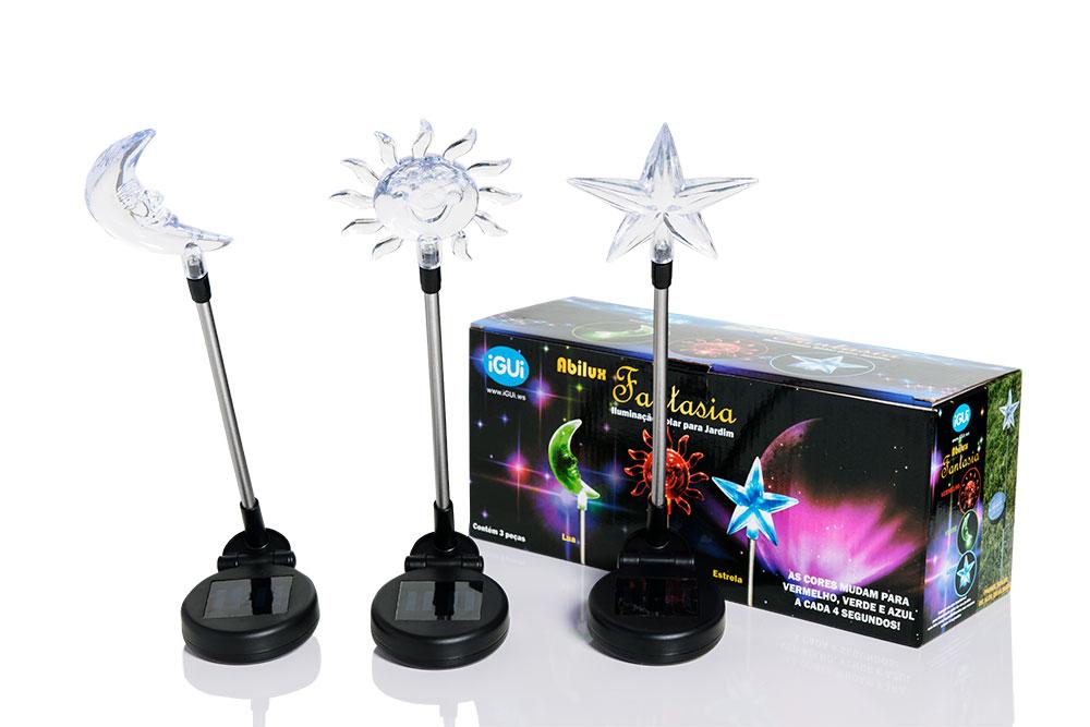 iGUiLux Fantasia iluminação jardim lazer magia beleza decoração led beija-flor borboleta libélula