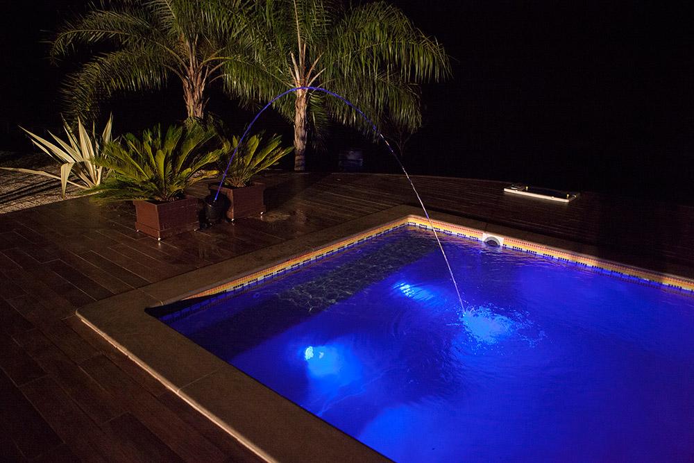 iGUiLux Jet Color jato colorido iluminação led piscina jardis lazer luminoso semi-pastilhada