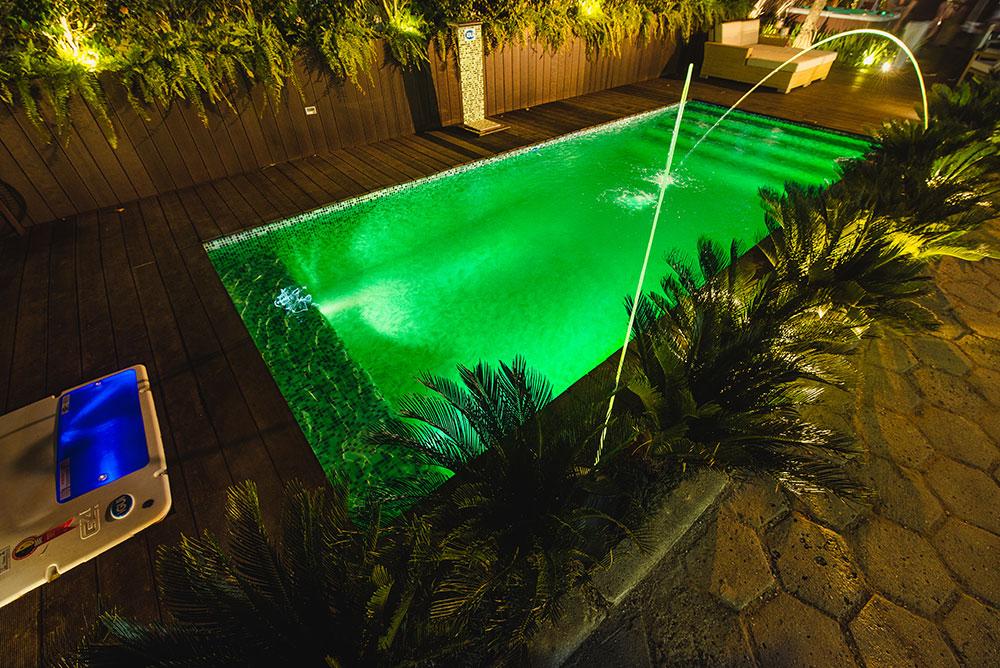 iGUiLux Jet Color jato colorido iluminação led piscina jardis lazer luminoso pastilhada azul miscelania vede