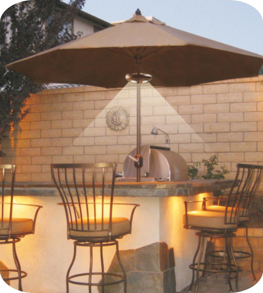 iGUiLux Ombrelone conforto praticidade iluminação led lazer jardins