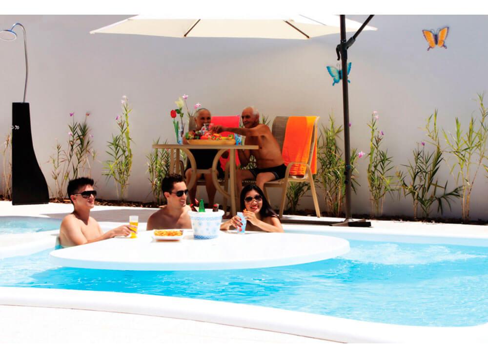 Ombrelone Copa iGUi guarda sol piscina bege baia blanca branca