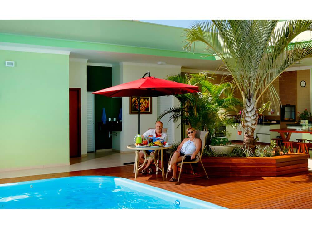 Ombrelone Copa iGUi guarda sol piscina bordo farol da barra azul