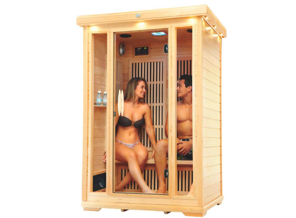 Sauna Seca Canadá relaxante madeira canadense saude beneficios lazer