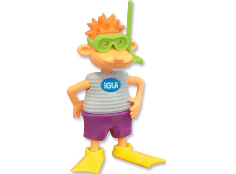 GG o Mascote iGUi boneco criança