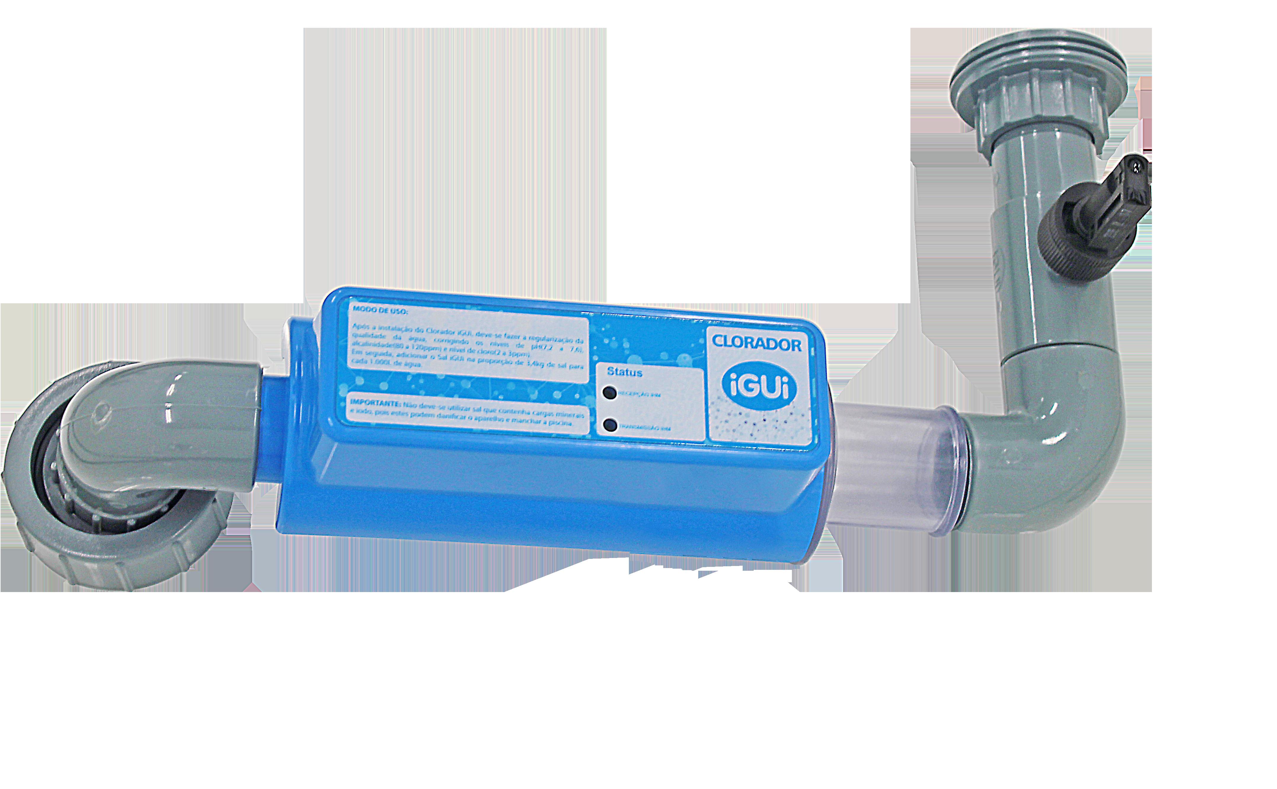 Clorador tratamento de água transformando sal em cloro