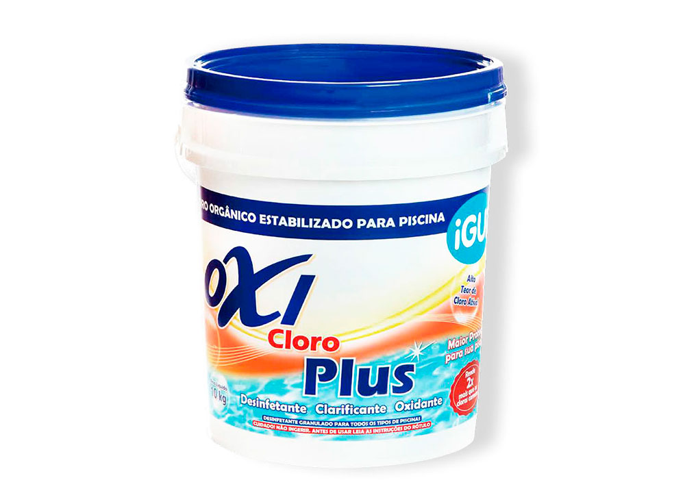 Oxi Cloro Plus tratamento piscina granulado