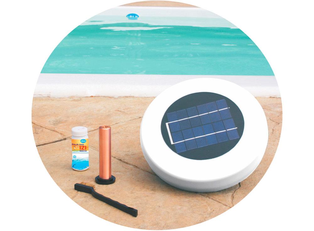 Ionizador Solar IZI tratamento piscina inos cobre