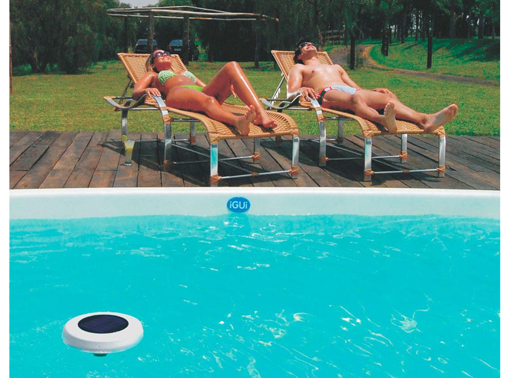 Ionizador Solar IZI tratamento piscina inos cobre belize branca