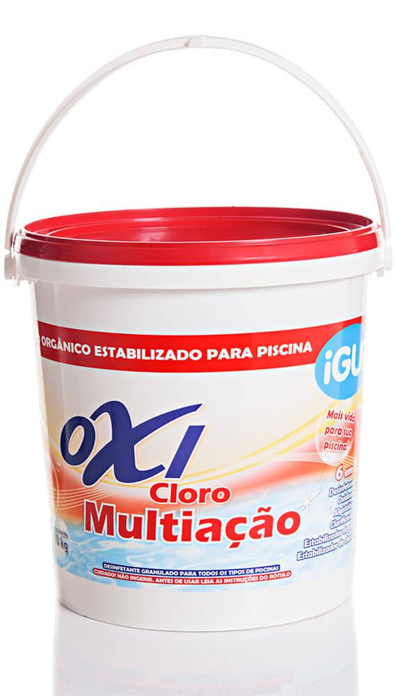 Oxi Cloro Multiação tratamento piscina granulado balde 10 kg