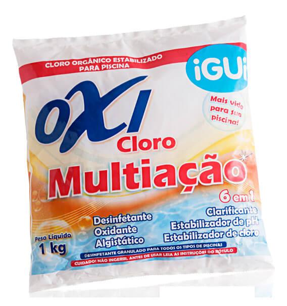Oxi Cloro Multiação tratamento piscina granulado saco 1kg