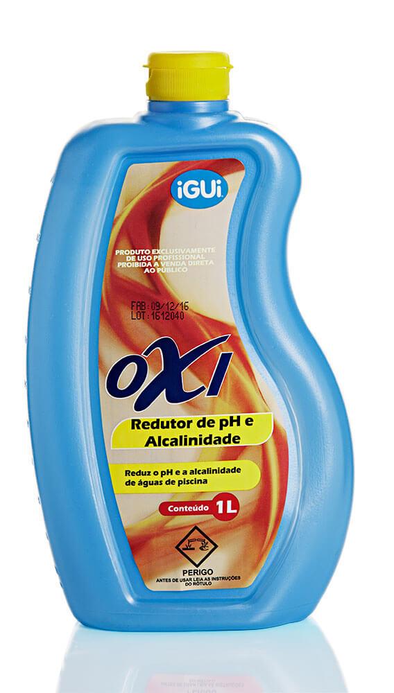 Oxi Redutor de pH e Alcalinidade indicadores água piscina