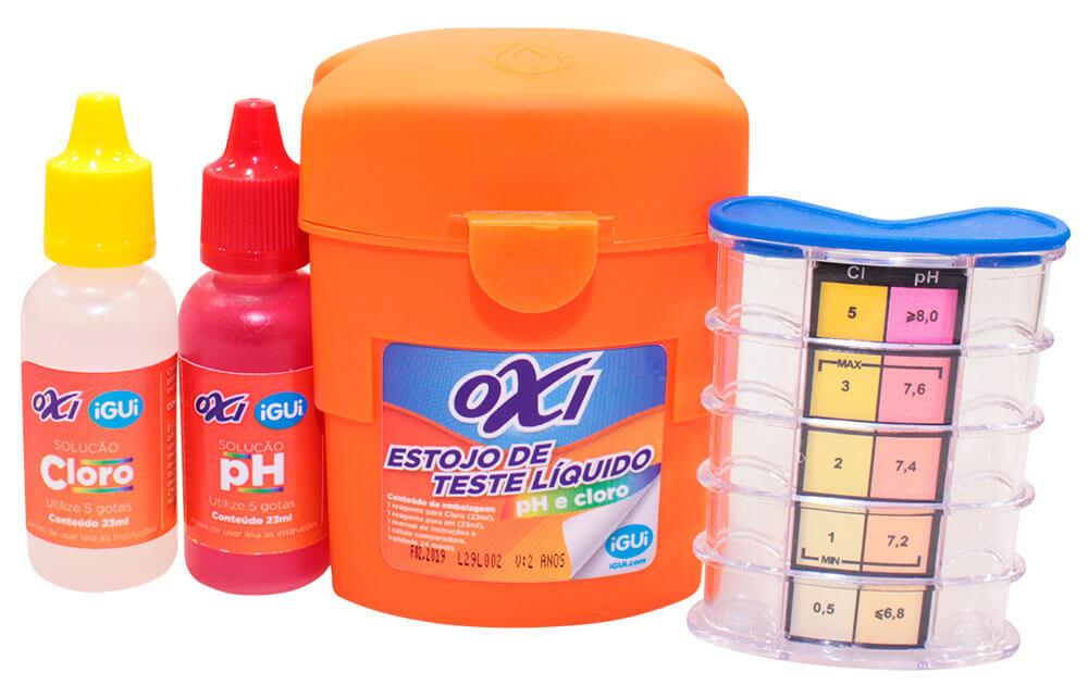 Reagentes do Oxi Estojo de Teste Líquido piscina
